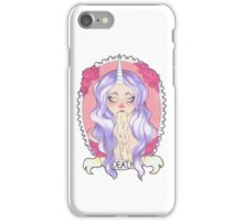 Pastel Death, white. iPhone Case/Skin