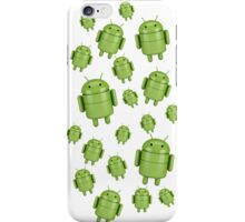 Green android robot iPhone Case/Skin