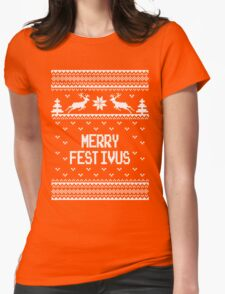 Merrry Festivus Ugly Holiday Sweater Womens Fitted T-Shirt
