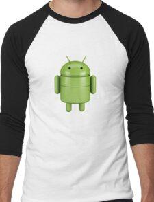 Green android robot Men's Baseball ¾ T-Shirt