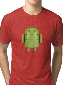Green android robot Tri-blend T-Shirt