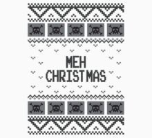 Christmas Meh Skull Ugly Holiday Sweater by xdurango
