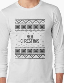 Christmas Meh Skull Ugly Holiday Sweater Long Sleeve T-Shirt
