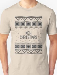 Christmas Meh Skull Ugly Holiday Sweater T-Shirt
