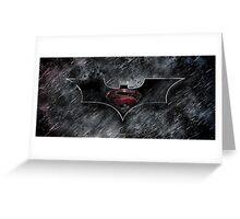 Batman Superman - Dark Knight of Steel  Greeting Card