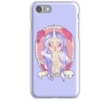 Pastel Death, pastel blue. iPhone Case/Skin