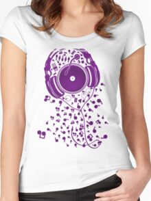 Headphones Women's Fitted Scoop T-Shirt