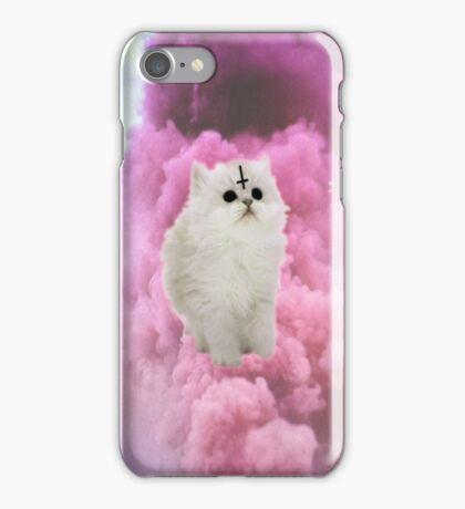Pastel Goth Kitty, pastel pink. iPhone Case/Skin
