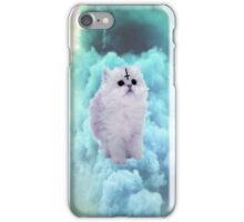 Pastel Goth Kitty, turqouise. iPhone Case/Skin