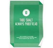 Commandment #10 of graphic design Poster