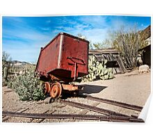 Goldfield Mining Car Poster