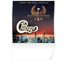 Chicago Earth Wind Fire Tour 2016 RP03 Poster
