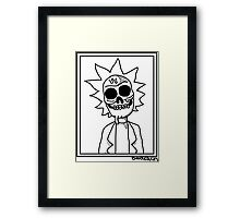 Rick and Morty - Zombie Rick Framed Print