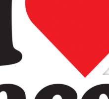I Heart Love Bacon Tee Sticker