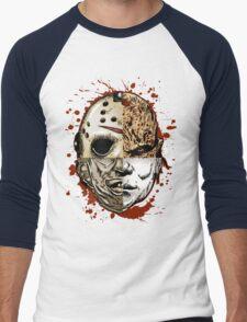 HORROR MASHUP Men's Baseball ¾ T-Shirt