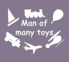 Man of many toys white Kids Clothes