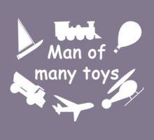 Man of many toys white Kids Tee