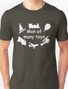 Man of many toys white Unisex T-Shirt
