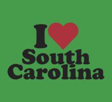 I Heart Love South Carolina Kids Clothes