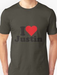 I Heart Love Justin T-Shirt