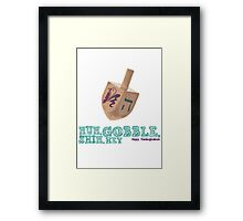 Shin, Gobble, Nun, Hey! Framed Print