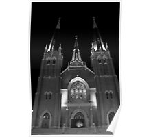 Holy Family Cathedral B&W Poster