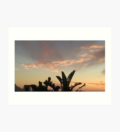 Sicilian Sunset Art Print
