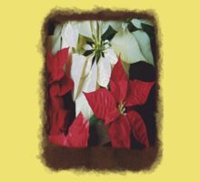 Mixed Color Poinsettias 2 Blank P3F0 Kids Tee