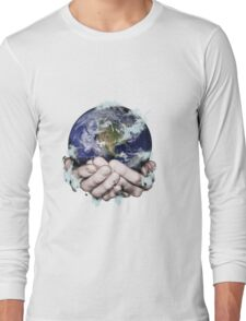 The World Freezing in my Hands Long Sleeve T-Shirt