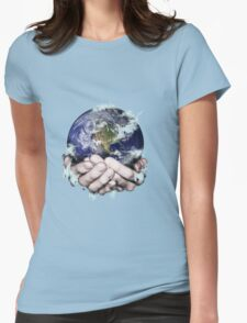 The World Freezing in my Hands Womens Fitted T-Shirt