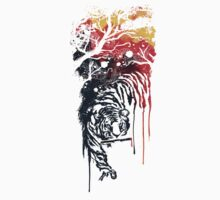 Painted watercolor tiger Kids Clothes