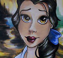 Belle in a DaVinci Style (Mona Lisa) by lissyleem