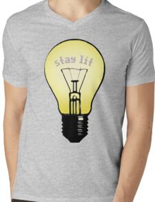 stay lit, stay hungry Mens V-Neck T-Shirt