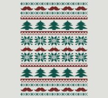 Funny Mustache Ugly Christmas Sweater  by xdurango
