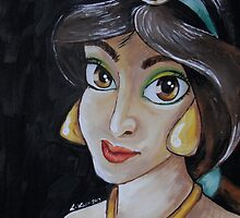 Jasmine in a Vermeer Style (Girl with the Pearl Earring) by lissyleem