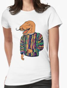 Sweater T-Rex Womens Fitted T-Shirt