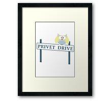 Number 4 Privet Drive Framed Print