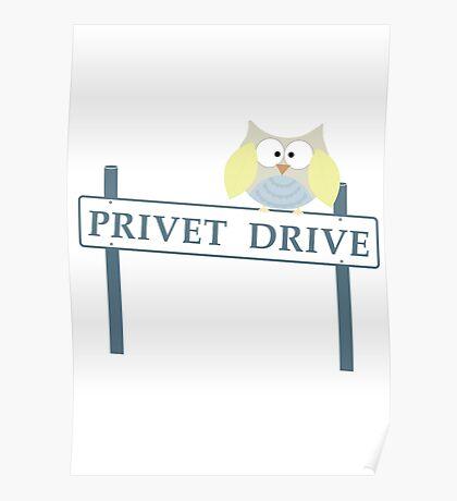 Number 4 Privet Drive Poster
