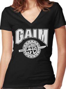 Gaim Crew (white) Women's Fitted V-Neck T-Shirt