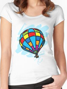 Hot_Air_Balloon_Trip Women's Fitted Scoop T-Shirt
