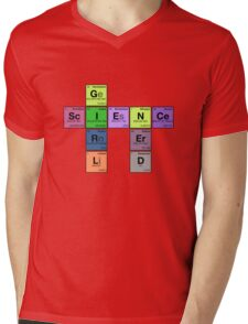 GIRL SCIENCE NERD - Periodic Elements Scramble! Mens V-Neck T-Shirt