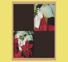 Mixed Color Poinsettias 2 Blank Q3F0 One Piece - Short Sleeve