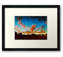 Twilight at Wingham Framed Print