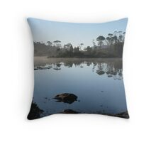 Morning mist on Tarn of Islands   Mt Oakleigh   - Peter Throw Pillow