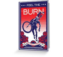 Feel the Burn retro cycling poster Greeting Card