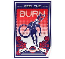 Feel the Burn retro cycling poster Poster