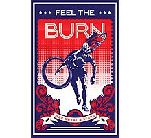 Feel the Burn retro cycling poster Photographic Print