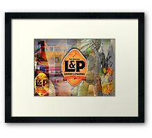 Lemon and Paeroa - L&P Framed Print