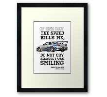 Paul Walker Tribute GTR - Halftone Framed Print