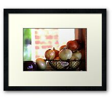 the Onion collection.. Framed Print